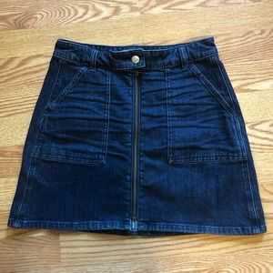 Madewell Zip Front Skirt size 26
